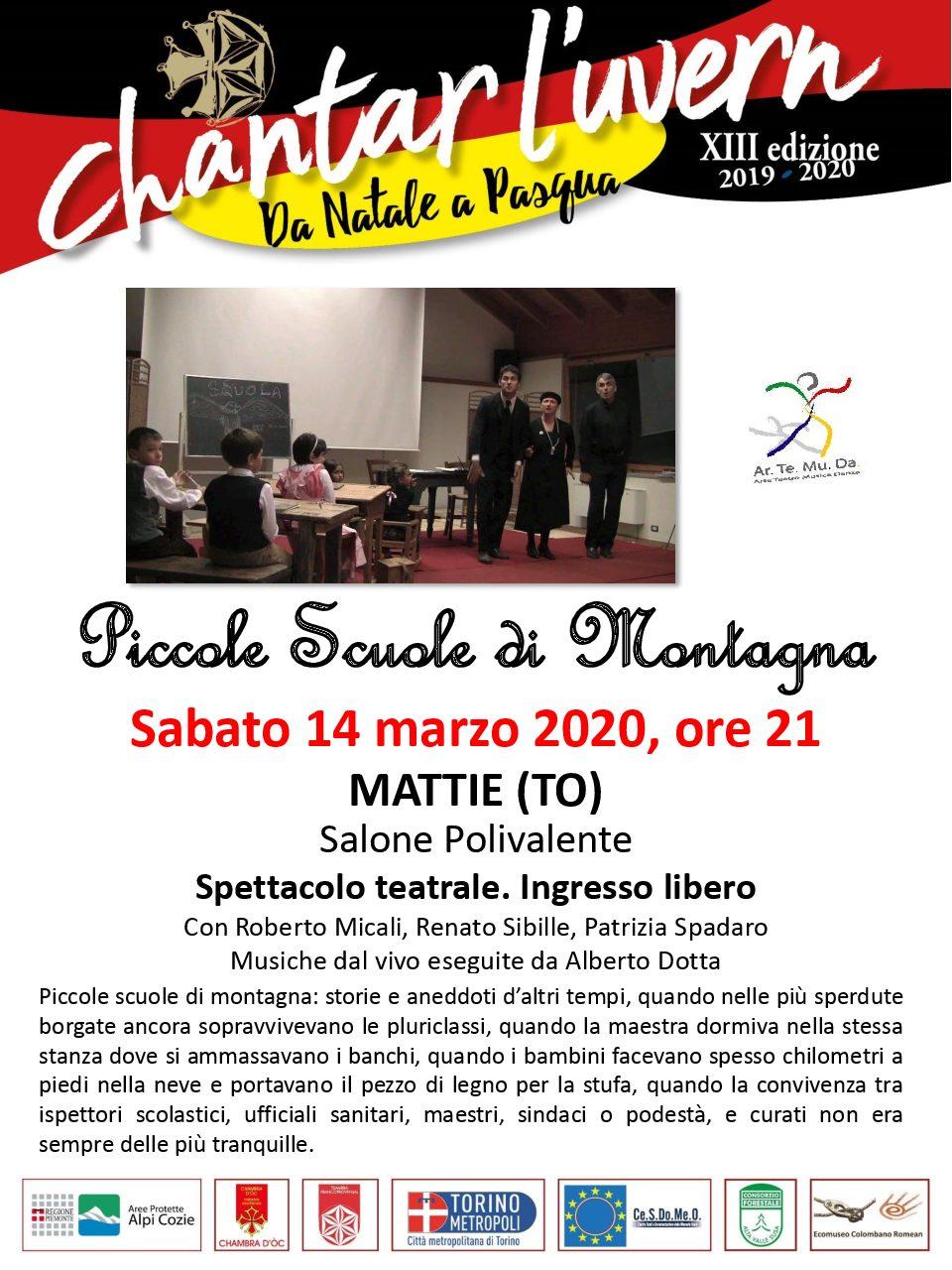 SABATO 14 MARZO 2020 SPETTACOLO TEATRALE